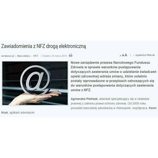 APDK o nowym zarządzeniu Prezesa #NFZ w serwiszoz.pl  #artykuł #tekst #serwiszoz #agnieszkapietrzak #zdrowie #adwokat #adwokatwarszawa #adwokaci #prawnik #kancelariaadwokacka #prawo #ochronazdrowia #ministerstwozdrowia #lekarze #lekarz #zarządzanie #warszawa #polska #poland