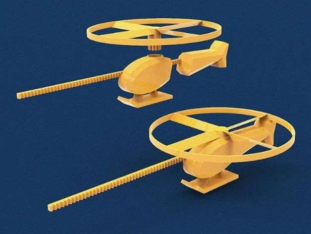 3D Printable Flying Helicopter Toy by 3D BROOKLYN