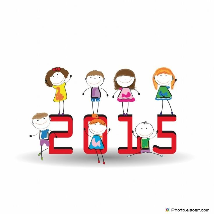 Happy New Year 2015 Funny Drawing Kids
