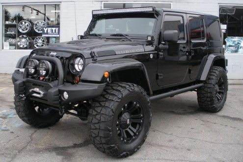 Custom Black 2013 Jeep Wrangler Unlimited Rubicon