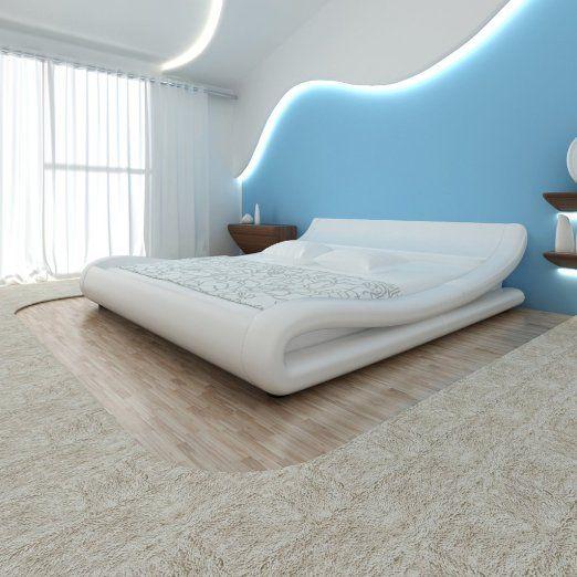 vidaXL Struttura letto in pelle artificiale 180 x 200 cm a spire Bianco EURO 303,99