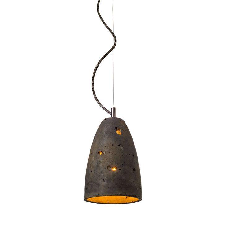 Febe S LOFTLIGHT w kolorze rdzawionego antracytu. Lampa wykonana z betonu. Idealna do loftów.