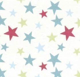 Stars fabric available now for stunning kids nursery bespoke curtains, blinds and soft furnishings just for you.
