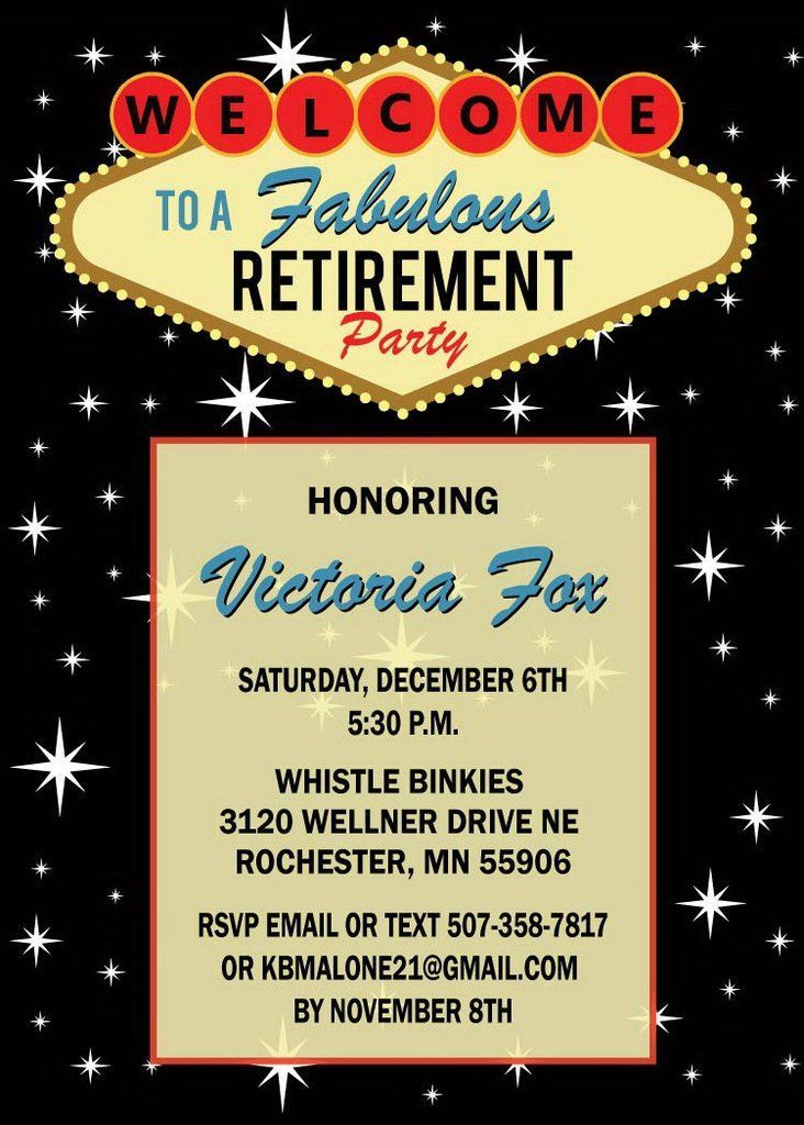 las vegas retirement invitation in 2018 retirement invitations