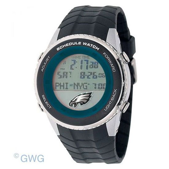 Philadelphia Eagles Game Time NFL Schedule Digital Black Men's Watch