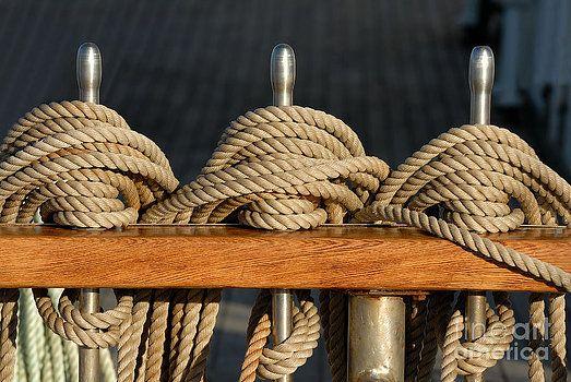 Rigging sailing ship at sunset by Alexander Lvov