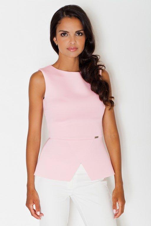 Pink elegant blouse for women