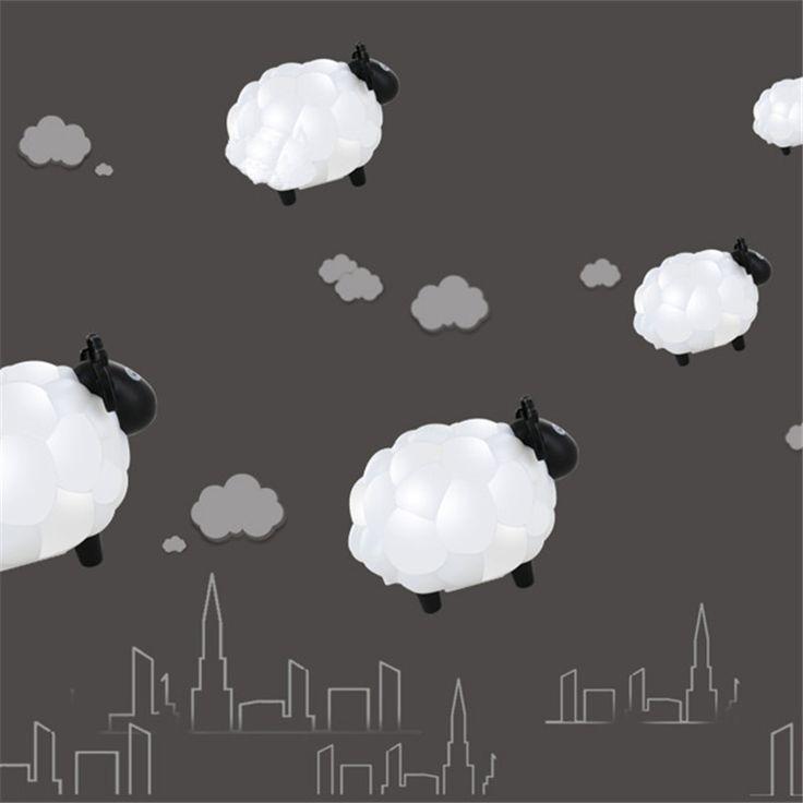 Cartoon Sheep Led Night Light  Children Bedroom  Desk Lamp Protect Eye Lamp Best Gifts For Children