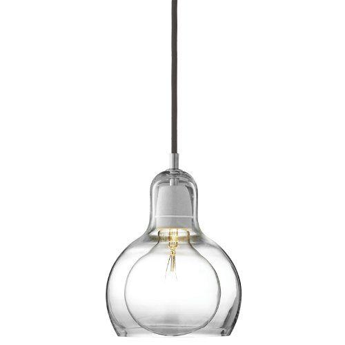andTRADITION Hängeleuchte Mega Bulb SR2 - Hängeleuchte - schwarz Sofie Refer 2006, mundgeblasenes Glas, Wohnzimmerleuchte - Tischleuchte - Pendelleuchte - Deckenleuchte