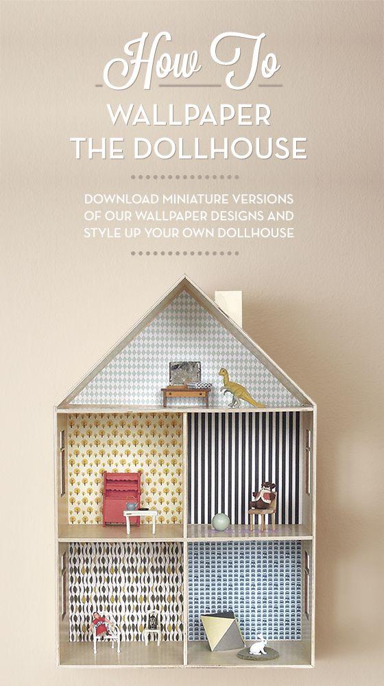 Doll house wallpaper