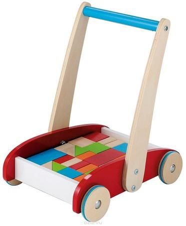 ELC Кубики Тележка с кубиками  — 3250р. ------------------------ Классические ходунки из дерева. Легкая деревянная тележка поможет сделать первые шаги, а когда малыш подрастет, он будет возить на ней кубики. Игрушка с яркими и безопасными нескользящими колесами для большей устойчивости. 24 элемента разных цветов, форм и размеров в комплекте. Характеристики: Материал: дерево. Поставляется в разобранном виде.