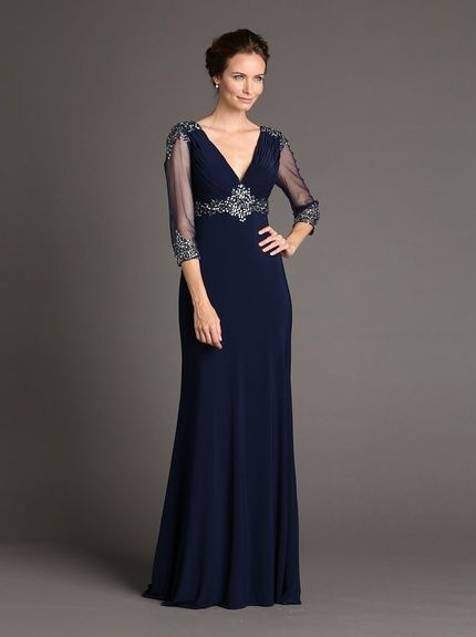 Terani Couture Womens Gown with Sequined Bodice, http