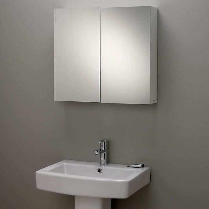buy john lewis gloss double mirrored bathroom cabinet online at johnlewis com