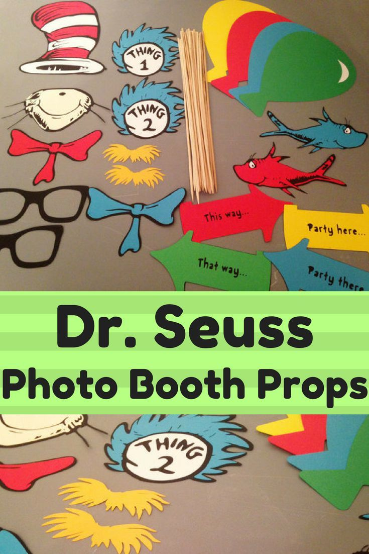 Dr Seuss Photo Booth Props 20 Adult Sized Props With Cat In The