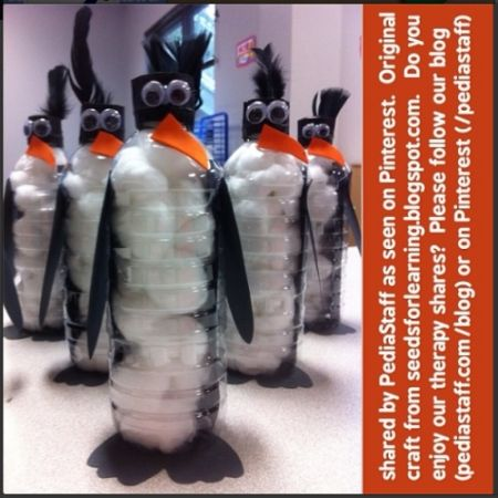 Instagram Post of the Week: Penguin Water Bottle Craft  - pinned by @PediaStaff – Please Visit ht.ly/63sNtfor all our pediatric therapy pins