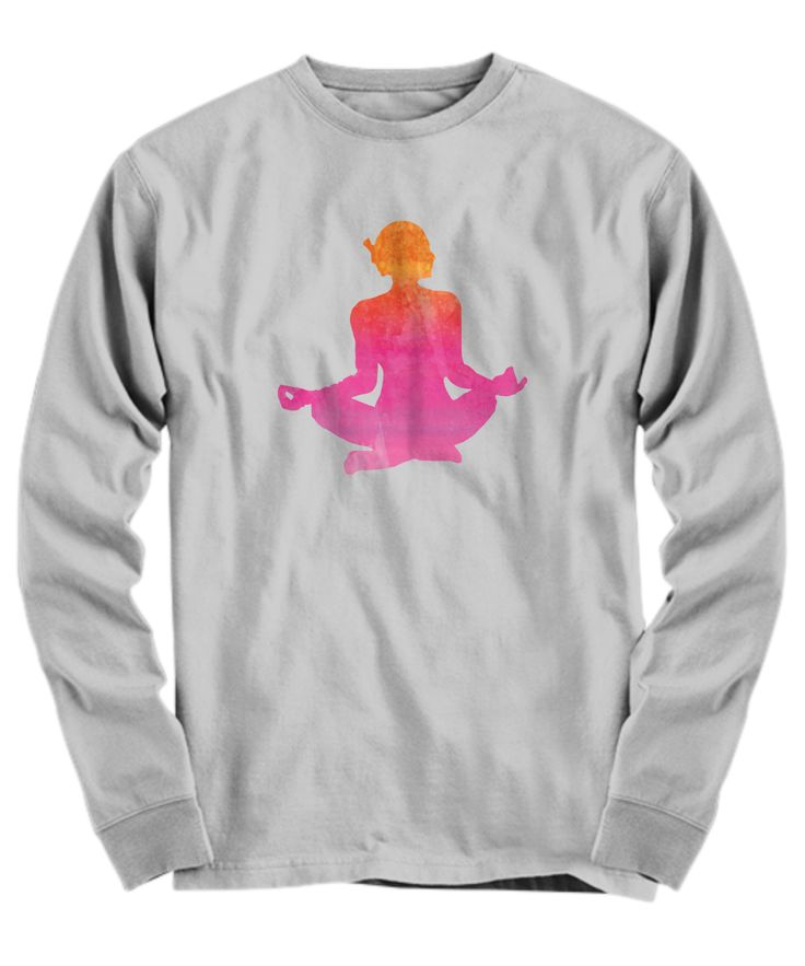 Yogi Long Sleeved Tee, Yoga Long Sleeved Tee MADE IN USA, Gym and Fitness Lover, Healthy Lifestyle, Yoga Studio Gear, Yoga Long Sleeved Tee, Fun Novelty Long Sleeved Tee, Pink Long Sleeved Tee