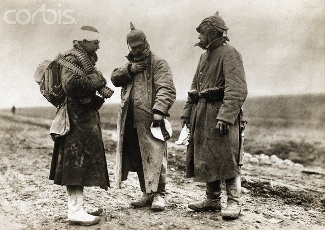 German Soldiers Study War Medals - BE039472 - Rights Managed - Stock Photo - Corbis