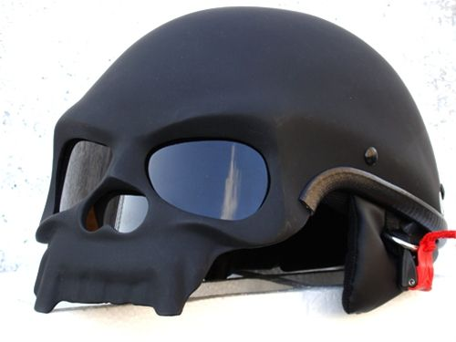 MASEI Black Skull motorcycle helmet. SICK! I wish it was a full face, then I would actually buy it.
