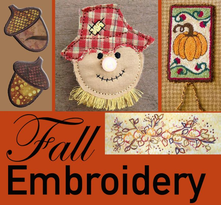 10+ Fabulous Fall Embroidery Patterns - On Craftsy | Embroidery