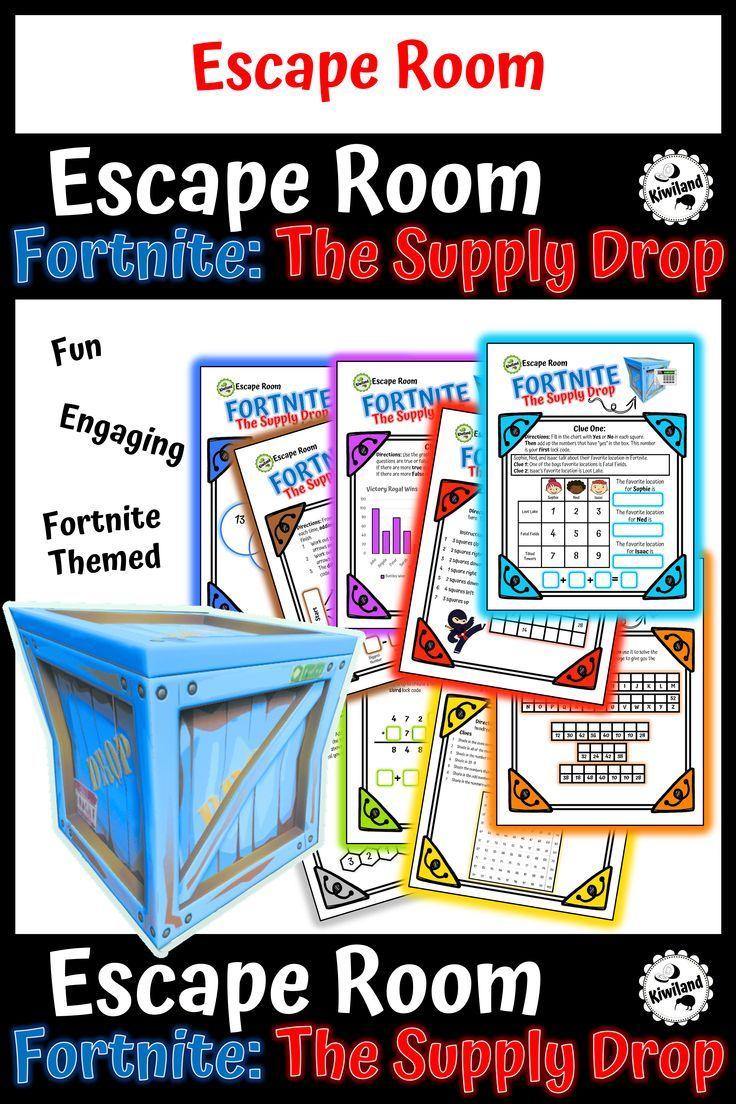 Escape Room Fortnite The Supply Drop Escape Room Fortnite Math Resources