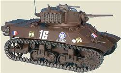 Master Fighter MF48571FR French M3A3 Stuart Light Tank - 12e CUIR 2e DB, Liberation of Paris, August 1944 (1:48 Scale)