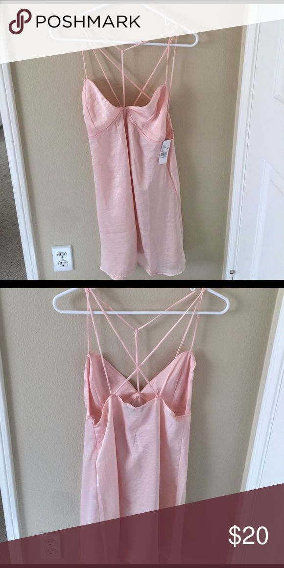 Super cute new with tags Kendall and Kylie dress Sheer strappy slip dress Kendall & Kylie Dresses Mini