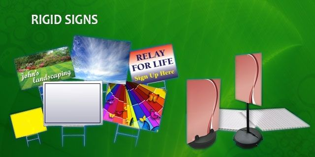 Rigid Signs Design anyway you want. Full color with no limitations. Corrugated plastic is typically used to make yard signs, parking signs, real estate signs, and election signs. They are waterproof and printed on them directly using a flat bed printer. When utilizing H-Stakes to place your sign in the ground, place your order with the flutes vertical. These are great for the price,  especially when you need temporary sign solutions. #sign #business #marketing