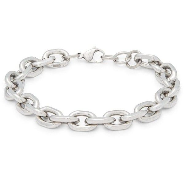Chisel Stainless Steel Chained Bracelet ($45) ❤ liked on Polyvore featuring men's fashion, men's jewelry, men's bracelets, mens stainless steel bracelets, mens chains, mens watches jewelry, mens chain link bracelets and mens bracelets