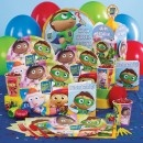 Super Why! Party Supplies for Joshy's second birthday - plates/napkins/balloons - make my own cake with Wyatt?  Note to self - check out PBS for coloring pages to copy onto cake