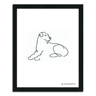 Rottweiler Line Drawing Framed Wall Art Dog Line Drawing Dog Line Dog Drawing Simple