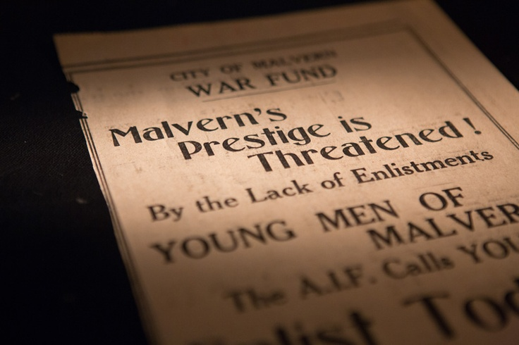 Young men of Malvern!  Malvern's prestige is threatened!