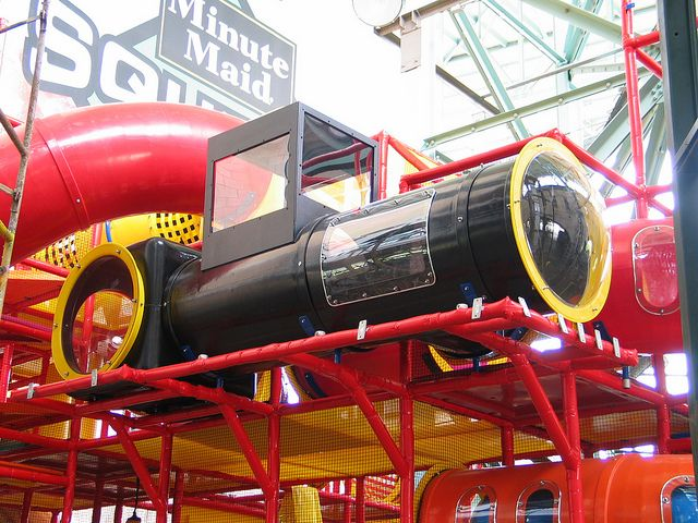 Here is the train we manufactured at the Houston Astros Minute Maid Park - Squeeze Play.  www.iplayco.com  #Iplayco #WeBuildFun #TheInnovators #WOW #Train