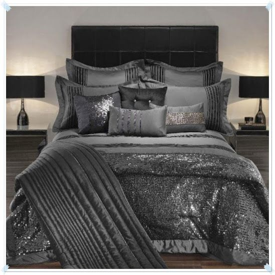 All Silver Shimmer Praphan Com Bedding Sets