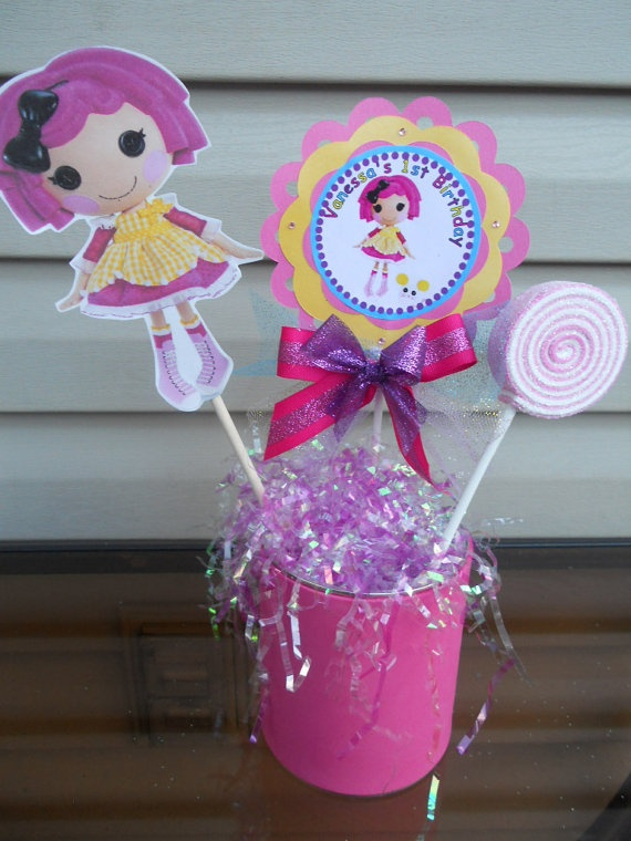 Lalaloopsy centerpiece party favors Lalaloopsy by SassyCreationz, $15.00