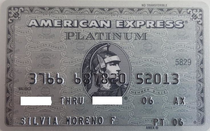 American Express Platinum (American Express, Mexico) Col:ME-AE-0025