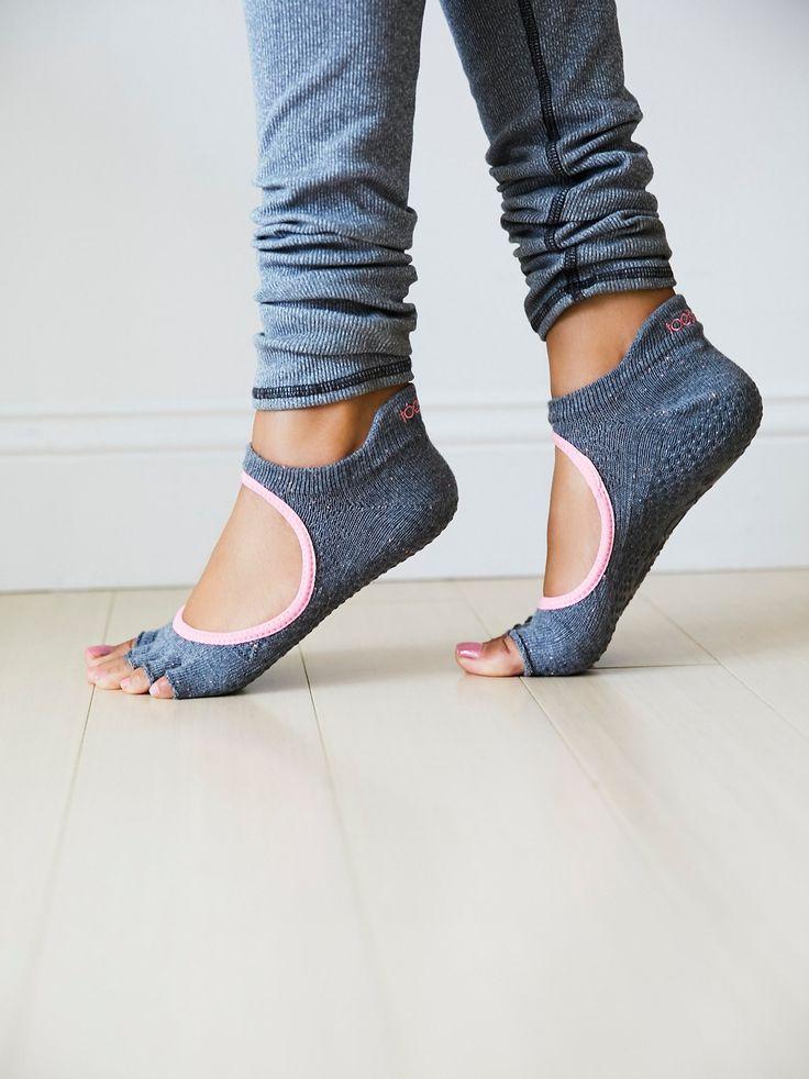 Bellarina Namaste Yoga Sock | Made with organic cotton, these barely there yoga…