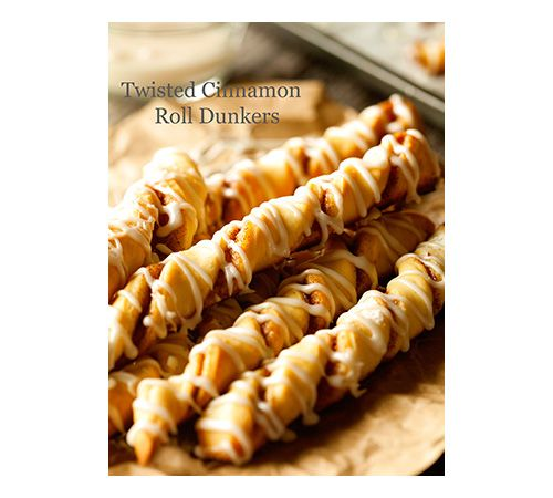 Twisted cinnamon bread dippers