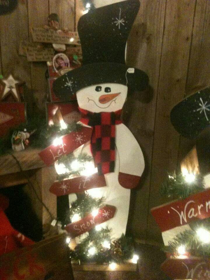 Wood snowman craft