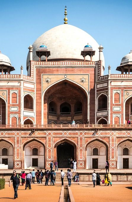 Travel to India is very popular among tourists because it features a diverse array of cultural, historical and architectural attractions. Pictured here is Humayun's Tomb.