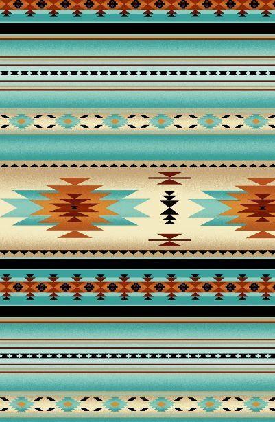 Native Saddle Blanket - Blue Fabric