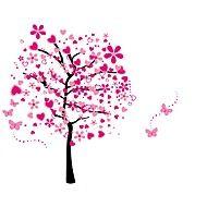 Módní+květiny+Krajina+Samolepky+na+zeď+Samolepky+na+stěnu+3D+samolepky+na+zeď+Ozdobné+samolepky+na+zeď+Svatební+samolepky,Papír+Vinyl+–+CZK+Kč+267