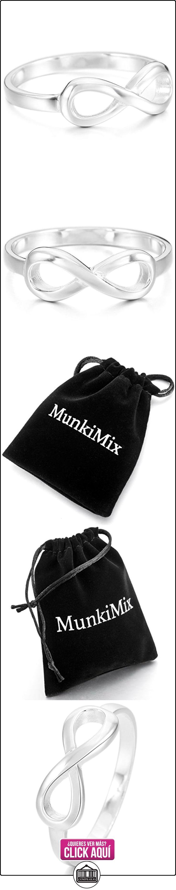 MunkiMix 925 Plata Anillo Ring Plata Infinito Infinity Símbolo 8 Anillo Ring Talla Tamaño 9 Mujer  ✿ Joyas para mujer - Las mejores ofertas ✿ ▬► Ver oferta: https://comprar.io/goto/B00N72ZJMW