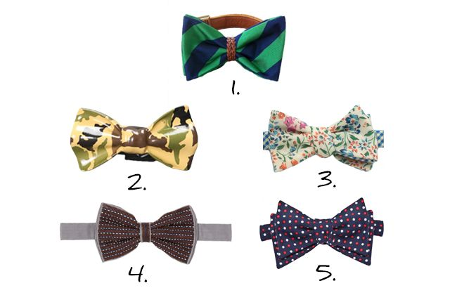 On bowties, grooms, and fantastic men with rare taste. We picked our 5 favorite bow ties
