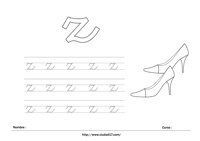 Ficha para imprimir z minúscula- zapatos