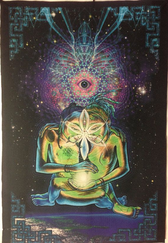 Beautiful Psychedelic Tapestry