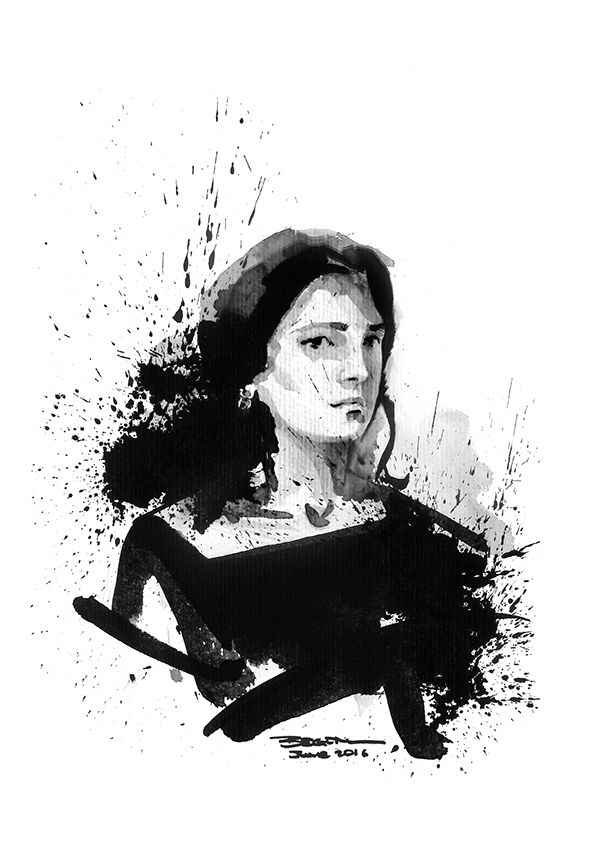 Self Portrait with Indian Ink June, 2016 #ink #black #indianink #winsorandnewton #sketch #painting #art #artist #pelikanink #pelikan #workinprogress #selfportrait #black #backinblack #hahnemuehle #vsco #vscocam #düsseldorf #germany #davinci #brush @winsorandnewton @watercolor.blog @pelikan_international @hahnemuehle @pelikan_tr @davinci_artistbrushes_official