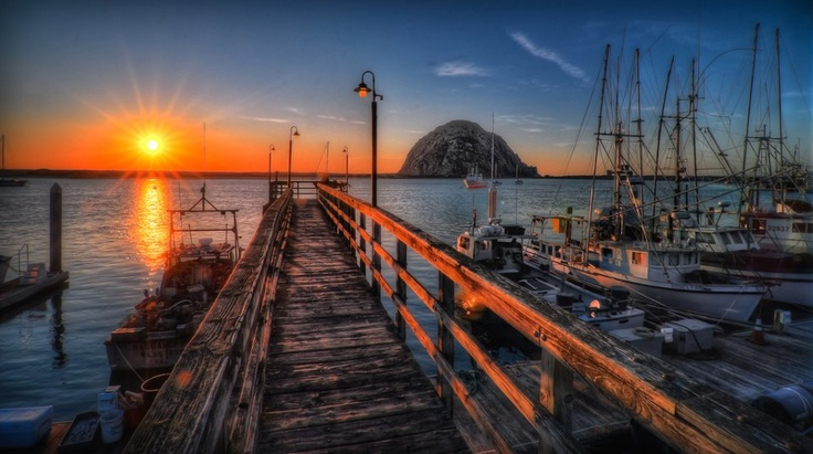 Nothing better than Morro Bay at sunset for a romantic getaway weekend. Photo by Keith Cuddeback.