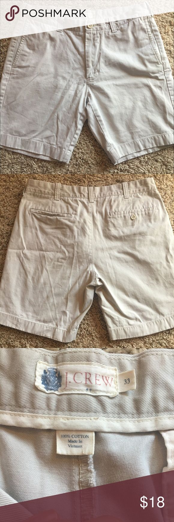 "J. Crew Men'a 9"" Broken-In Gramercy Shorts Men's 9"" Gramercy cotton shorts in light khaki. Like new, maybe worn once. Too small for my husband! Perfect neutral shorts! J. Crew Shorts"