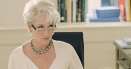 Miranda Priestly's Withering Looks ~ The Devil Wears Prada