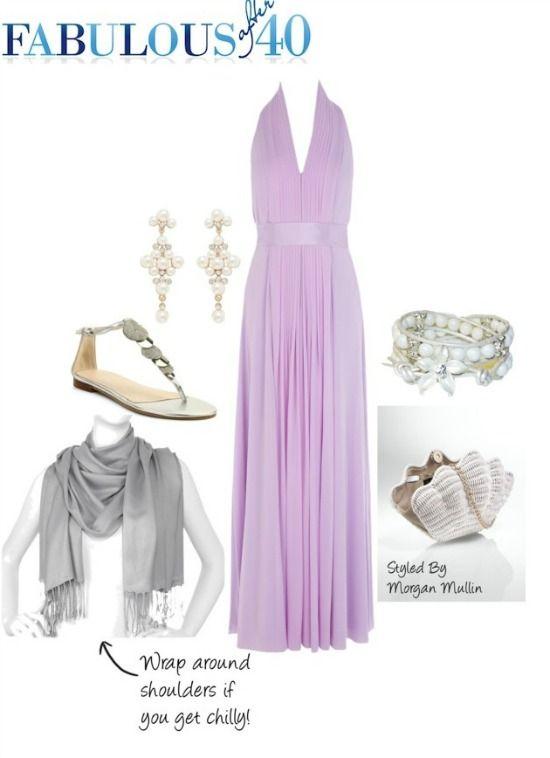 Wedding Guest Attire Purple Dress